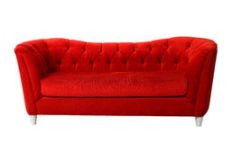 Red furniture isolated Royalty Free Stock Images