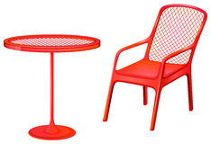 Red furnitures Stock Photo
