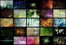 Red futurista de los datos de la energía de la red stock de ilustración