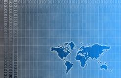 Red futurista de los datos de la energía de la red Imagen de archivo