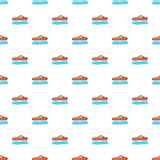 Red futuristic car pattern, cartoon style Stock Images
