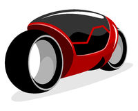 Red futuristic motorcycle Royalty Free Stock Photos