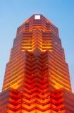 Red futuristic skyscraper Stock Photo