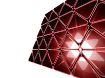 Red futuristic triangles wall Royalty Free Stock Photography