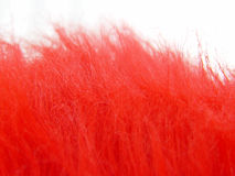 Red fuzz. Detail as a flamy abstract background Royalty Free Stock Images
