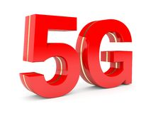 red 5G Imagen de archivo