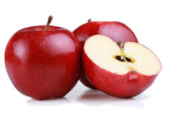 Red gala apples isolated Stock Image