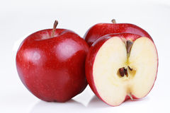 Red gala apples isolated Royalty Free Stock Photo