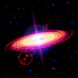 Red galaxy Royalty Free Stock Images
