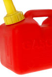 Red gallon gas can. A brand new red gallon gas can royalty free stock images