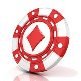 Red gambling chip sign with diamond on it Royalty Free Stock Photography