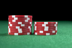 Red gambling chips Royalty Free Stock Photo