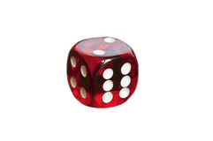 Red gambling dice isolated Royalty Free Stock Images