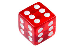 Red game cube macro Royalty Free Stock Photo