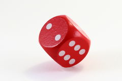 Red Game Dice Royalty Free Stock Photo