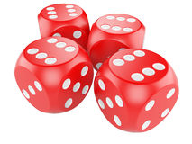 Red game dices Stock Image