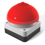 Red game show buzzer with nipple on top. Strange, funny flavored, 3d rendering Royalty Free Stock Image