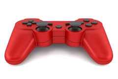 Red gamepad isolated on white Royalty Free Stock Photo