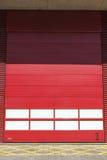 Red garage door Stock Image