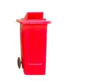 Red garbage bin Royalty Free Stock Images