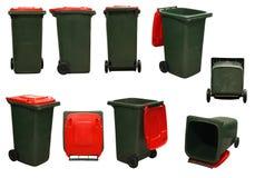 Red garbage bins Stock Photos