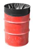 Red Garbage Can royalty free stock images