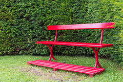 Red Garden Bench Royalty Free Stock Photography