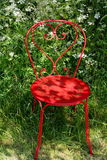 Red Garden Chair Royalty Free Stock Photography