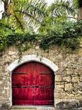 Red Garden Door Stock Photos