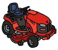 Red garden mower Royalty Free Stock Photography
