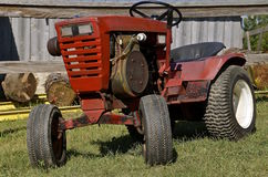 Red garden tractor Royalty Free Stock Photos