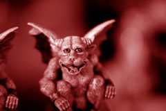 Red Gargoyle Royalty Free Stock Images