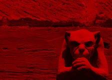 Red Gargoyle Royalty Free Stock Photo