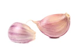 Red garlic cloves. Stock Image