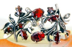 Red garnet Stock Image