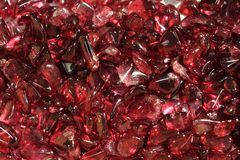 Red garnet mineral background Stock Image