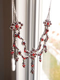 Red Garnet Necklace Royalty Free Stock Photography