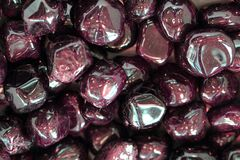 Red garnets gems Royalty Free Stock Photo