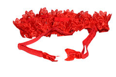 Red garter belt Royalty Free Stock Photography
