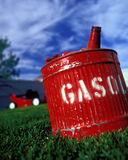 Red gas can royalty free stock photo