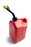 Red Gas Can. A Plastic red gas can on a white background with shadow Royalty Free Stock Images