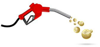 Red gas nozzle Royalty Free Illustration