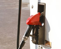 Red gas pump Royalty Free Stock Images