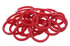 Red gaskets Royalty Free Stock Photo