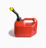Red gasoline Canister on white background. Stock Images