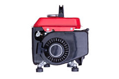 Red gasoline generator viewed from side Royalty Free Stock Image