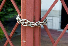 Red Gate is closed on the chain. Stock Photography