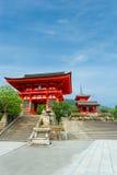 Red Gate Kiyomizu-dera Temple Entrance Day Stock Photos