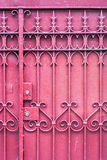 Red Gate with Lock Stock Image
