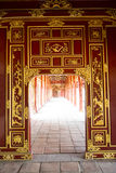 Red Gateway in the Forbidden Purple City in Hue, Vietnam. Stock Images